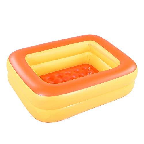 "HIWENA Inflatable Kiddie Pool - 45"" Orange"