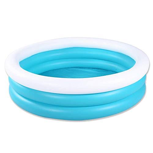 HIWENA Inflatable Kiddie Pool - Blue and White