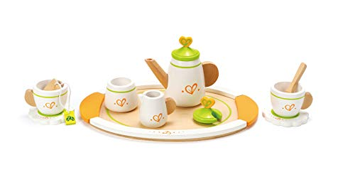 Hape Tea for Two Wooden Play Kitchen Accessory Kit (Best Eco-Friendly Tea Set)
