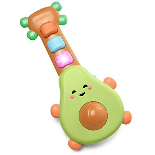 Skip Hop Baby Guitar Developmental Musical Toy, Farmstand Rock-A-Mole Guitar (Best Budget Option)
