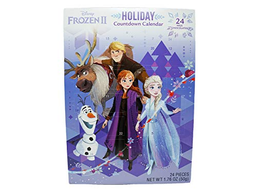 Frankford 2020 Disney Frozen 2 Chocolate Candy Filled Advent Countdown Calendar (Best Toddler Budget Option)