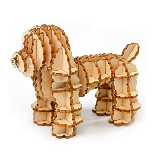 3D Wooden Animal Dog Puzzle (Best Eco-Friendly Option)