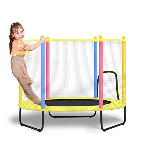 BSPORTY 4.5FT Trampoline with Safety Enclosure