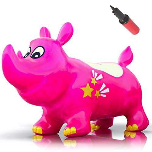 WALIKI Bouncy Kent The Rhino Inflatable Horse Hopper