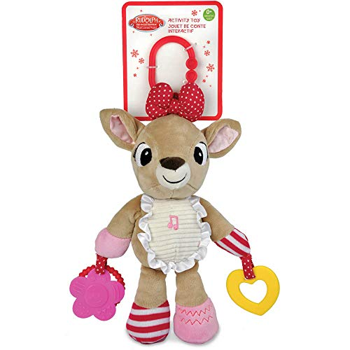 Rudolph the Red-Nosed Reindeer Clarice On the Go Teether Developmental Activity Toy