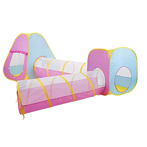 GOJOOASIS 4pcs Baby Tunnel and Tent Pop Up