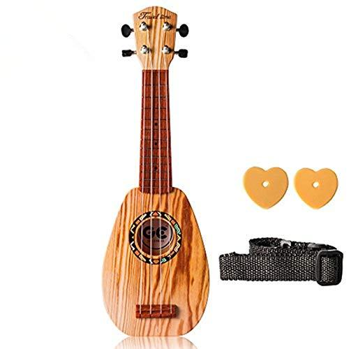 UKUALAA Soprano Ukulele 17-inch Acoustic Toy Guitar for Kids