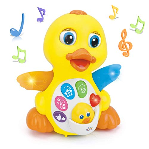 Woby Musical Flapping Yellow Duck