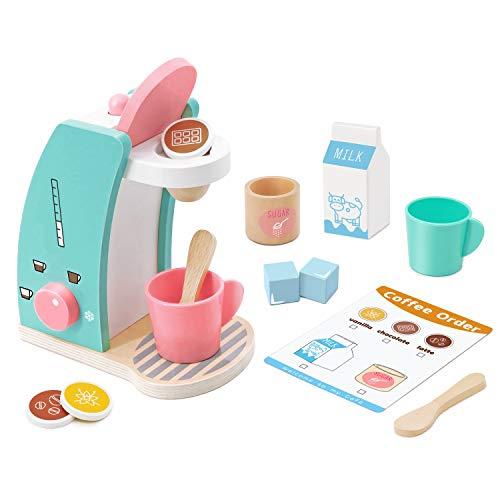 Play Kitchen Accessories - Brew & Serve Wooden Coffee Maker Set