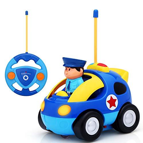 KINGSDRAGON Remote Control Car, Cartoon RC Police Car