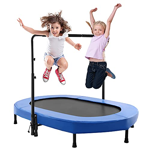 Aceshin Kids Trampoline Mini Rebounder with Adjustable Handle
