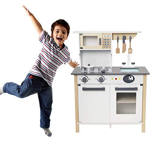 ROBUD Wooden Pretend Play Kitchen Set