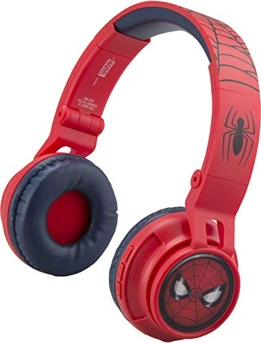 eKids Spider-Man Wireless Bluetooth Portable Kids Headphones with Microphone