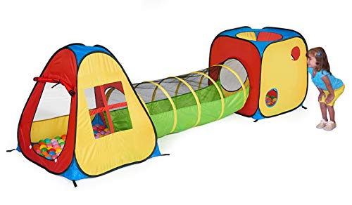 UTEX 3 in 1 Pop Up Play Tent with Tunnel