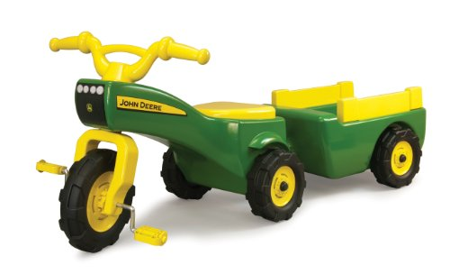 TOMY John Deere Pedal Tractor And Wagon (High Quality)