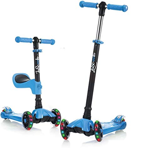 Lascoota 2-in-1 Kick Scooter with Removable Seat - Best Quality Option