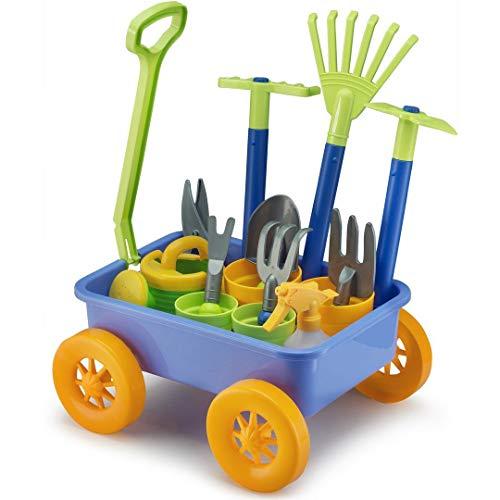 Liberty Imports Garden Wagon & Tools Toy Set