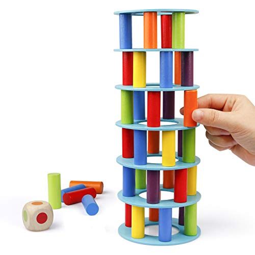Coogam Wooden Tower Stacking Game