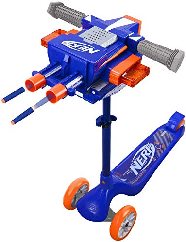 Nerf Blaster Scooter Dual Trigger 3-Wheel Scooter (Best Quality Option)