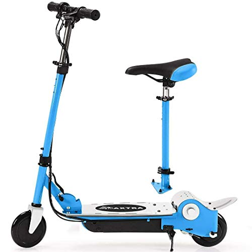 MAXTRA Folding Electric Scooter with Removable Seat for Kids
