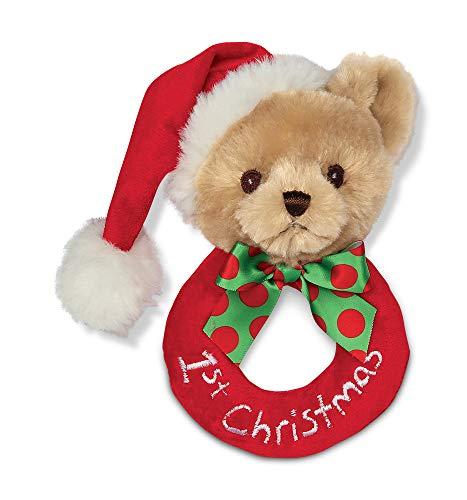 Bearington Baby's 1st Christmas Plush Soft Ring Rattle (Best Budget Option)