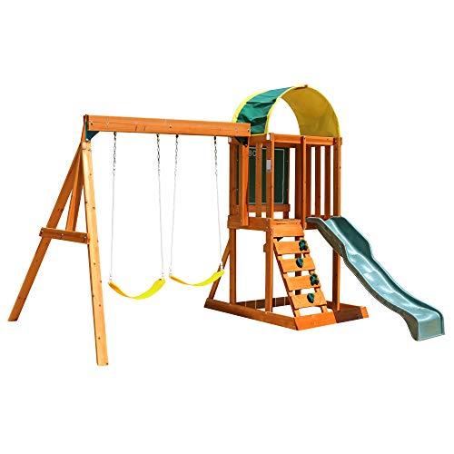 KidKraft Andorra Cedar Wood Swing Set