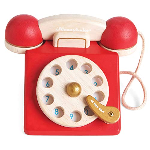Le Toy Van - Vintage Wooden Toy Phone - Best Quality Option