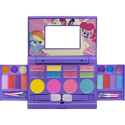 Townley Girl Hasbro My Little Pony Cosmetic Compact Set with Mirror 22 Lip Glosses