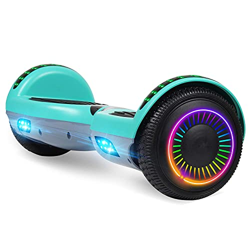 Felimoda Hoverboard, 6.5 Inch self-Balancing Hoverboard with LED Light Flashing Wheel