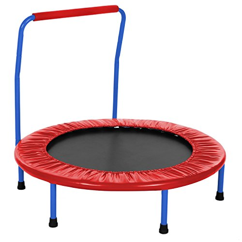 ANCHEER Kids Trampoline with Safety Handrail