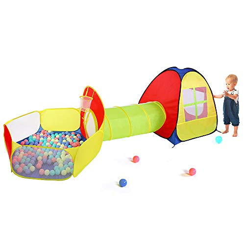TOMYOU Playhouse, Ball Pit, Play Tent and Tunnels for Kids