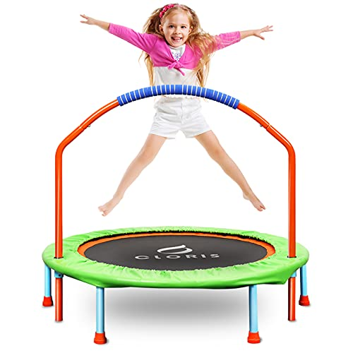 CLORIS Mini Trampoline for Kids with Foam Handle Bar (Best Budget Trampoline)