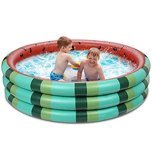 Inflatable Kiddie Pool with 3 Rings