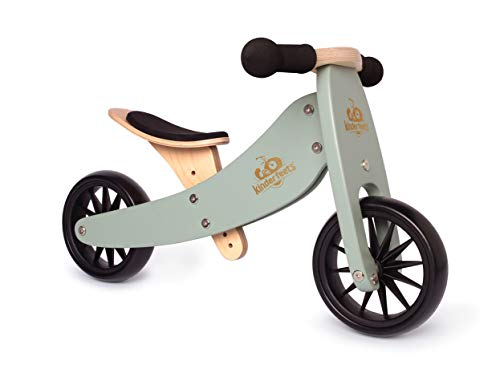 Kinderfeets TinyTot 2-in-1 Wooden Balance Bike and Tricycle (Best Quality Option)