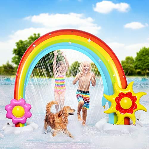 Funyole Inflatable Rainbow Sprinkler