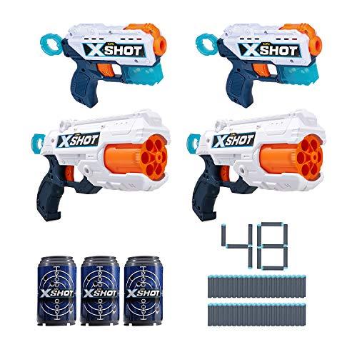 X-Shot Excel Double Kickback Double Reflex 6 Foam Dart Blaster Combo