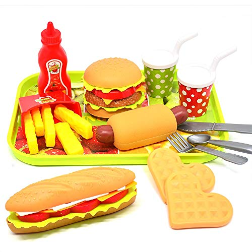 CAILLU Toddler Girls Toys Play Food Pretend Set