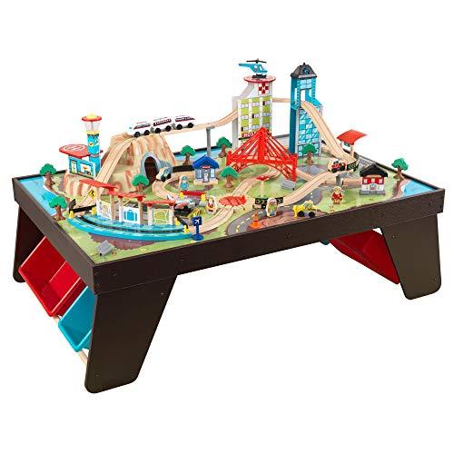 KidKraft Aero City Train Set & Table (Best Eco-Friendly Option)