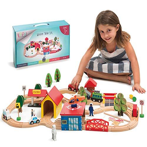 KipiPol Wooden Train Tracks Set