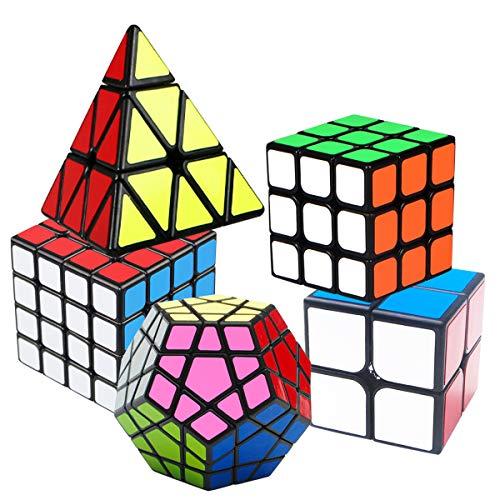 Speed Cube Set, Puzzle Cube, Magic Cube 2x2 3x3 4x4 Pyraminx Pyramid Megaminx Puzzle Cube Toy