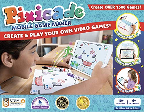Pixicade: Transform Creative Drawings to Animated Playable Kids Games On Your Mobile Device