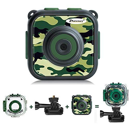 PROGRACE Kids Waterproof Action Video Digital Camera