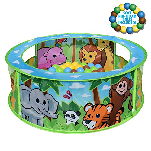 Zoo Adventure Pop-Up Ball Pit