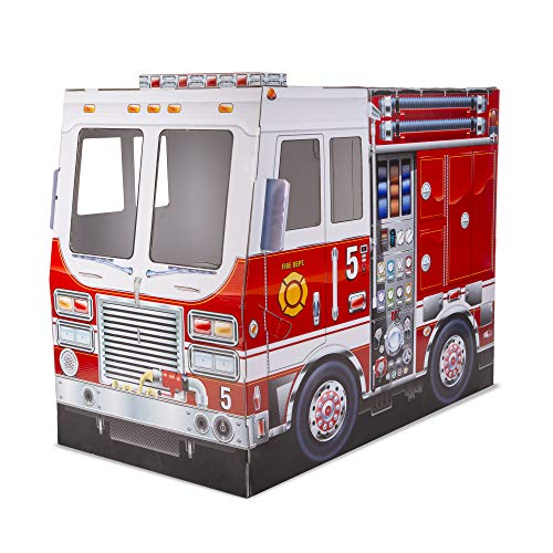 Melissa & Doug Fire Truck Cardboard Playhouse (Best Eco-Friendly Option)