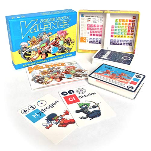 Science Ninjas : Valence Card Game (Best Quality Option)
