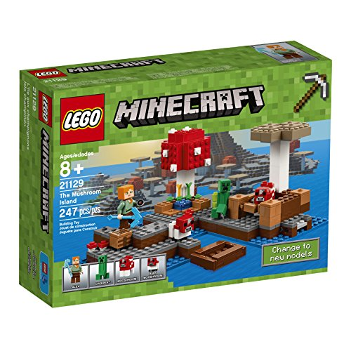 LEGO Minecraft The Mushroom Island 21129 (Best Quality Age 7-11 Option)