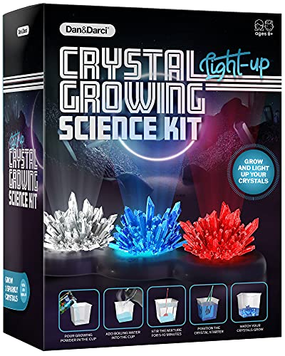 Crystal Growing Kit for Kids + light-up Stand