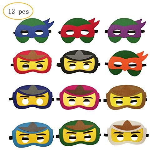 12PCS Ninja Ninjago Felt Masks