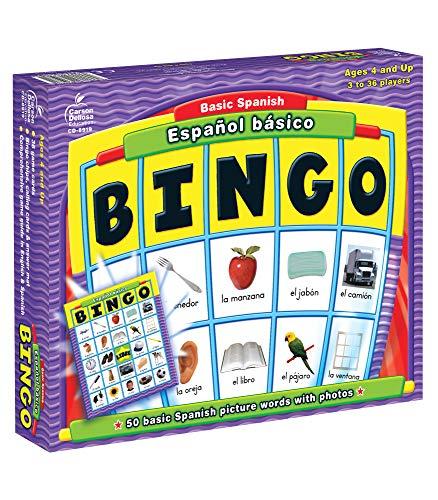 Carson Dellosa | Basic Spanish Español Básico Bingo Learning Board Game - Best Budget Option