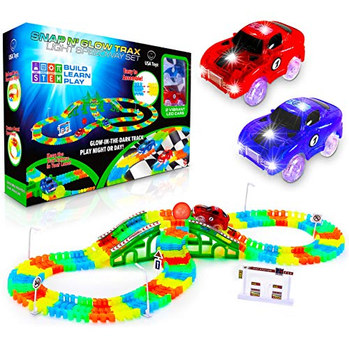 USA Toyz Glow Race Tracks and LED Toy Cars